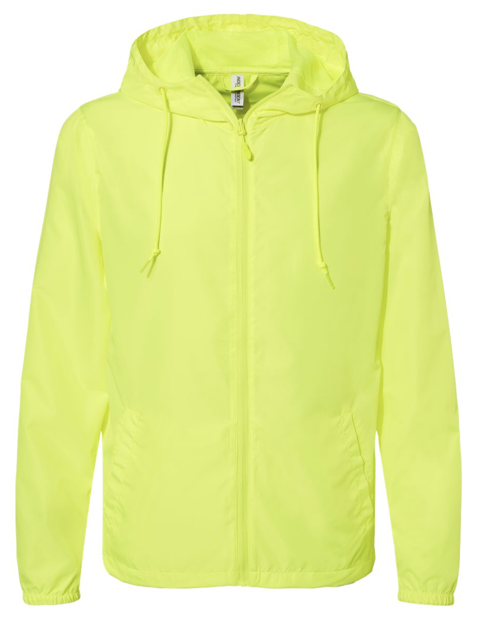 Unisex Lightweight Windbreaker Full-Zip Jacket - Safety Yellow