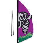 Feather Banner - Zebra