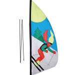 Feather Banner - Skier