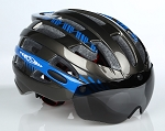 MagnaShield Bicycle Helmet - Black and Blue