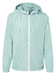 Unisex Lightweight Windbreaker Full-Zip Jacket - Aqua