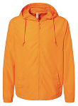 Unisex Lightweight Windbreaker Full-Zip Jacket - Safety Orange